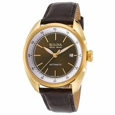 Bulova 64B127 Men's Accu-Swiss Tellaro Gold-Tone Automatic Watch