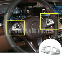 For Benz E Class W213 S213 Interior Steering Wheel Button Trim Cover 2016-2019