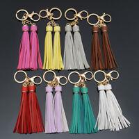 18cm Long Tassel Leather Keychain Keyring Charm Pendant Purse Bag Key Ring Chain