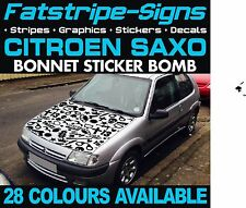 CITROEN SAXO GRAPHICS STICKER BOMB BONNET DECALS STICKERS STRIPES 1.4 1.6 GUN