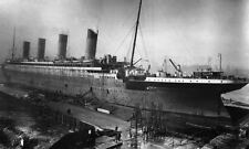 1911-12 RMS Titanic Under Construction  PHOTO Dry Dock White Star Line Sinking