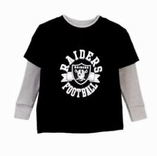 Oakland Vegas Raiders NFL Little Boys L Large Black Long Sleeve Layered T-Shirt