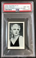 1934 Teofani  Modern Movie Stars & Cinema Celebrities JEAN HARLOW  PSA 8 NM-MT