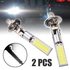 2Pc H1 COB LED Car Foglight Beam DRL Driving Light Bulb White 6000K Super Bright