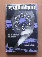 THEY CALL IT INTELLIGENCE by Joachim Joesten - 1st HCDJ 1963 - WWII spy spying