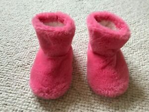 Next Pink Fluffy Slipper Boots - Infant Size 4