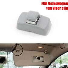 FOR VW TRANSPORTER T5 T4 PASSAT B5 GOLF LUPO BORA Sun Visor Clip 3B0857563 Grey