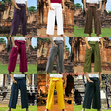 *Lange*Thai Fisherman Pants*Hose*Piratenhose*Wickelhose* Yoga*Taichi*Massage*