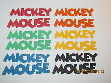 Mickey Mouse Titles------DISNEY----Bright Colors---Cricut Die Cuts-----Worldwide