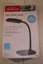 NEW SUNBEAM FLEXIBLE NECK LED DESK LAMP ADJUSTABLE LIGHT ENERGY STAR BLACK