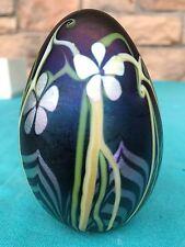 Signed Orient & Flume Art Glass Paperweight Tiffany Style Aurene NIB