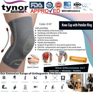 Tynor™ Open Patella Knee Brace Silicon Ring Stabilizer Spring Hinge Meniscus ACL