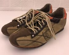 Levi Strauss Suede Leather Fashion Sneakers Lace Leather Upper Brown Men Size 10