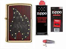 Zippo Flame Gold Dust + Starter Pack mit Benzin,Docht,Feuersteine 60000424