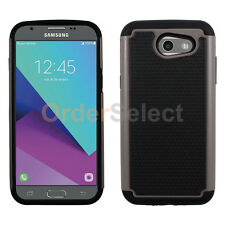 NEW Hybrid Rubber Hard Case for Android Phone Samsung Galaxy J3 Emerge Gray HOT!