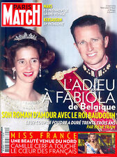 Paris Match Fabiola Belgique Baudouin_Kate Middleton_Miss France_Adjani ©TBC