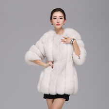 Women Long Faux Fox Fur Winter Coat Jacket Warm Parka Outwear Thick Overcoat Top