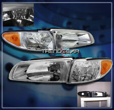 97-03 PONTIAC GRAND PRIX HEAD LIGHTS+CORNER LAMP CHROME