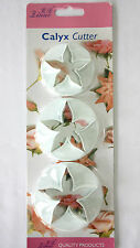 Flower Cutters Set of 3 Large Calyx Cutters Sugarcraft Cake Decorating