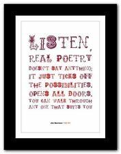 More details for jim morrison ❤ the doors typography quote poster art limited edition print # 01
