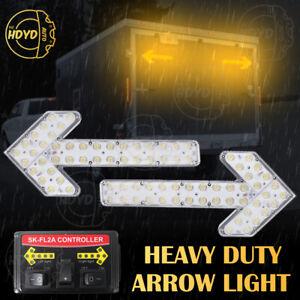 "48"" Traffic Emergency Warning Beacon Sign Arrow Board Led Light Amber Yellow"