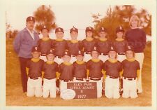 LITTLE LEAGUE Baseball Team 5 x 7 FOUND PHOTO Color FREE SHIPPING Vintage 83 18