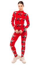 RRP €315 PERFECT MOMENT Merino Wool Knitted Jumpsuit Size L Stars Intarsia