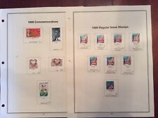 US Stamp Year Set 1999 Complete 179 Stamps. 100 Mint & 79 Hinged Used.