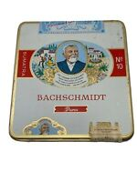 Bachschmidt Sumatra No 10 Puros Cigar Tin Tobacco Collect Germany EMPTY Vintage