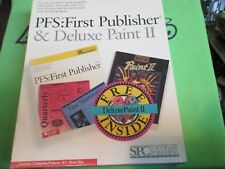PFS: FIRST PUBLISHER & DELUXE PAINT II - RETAIL BOX - 5.25 DISK - MS-DOS VERSION