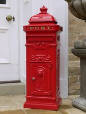 Large Post Box / Mail Box Red Pillar Box Aluminum Post Box Tall