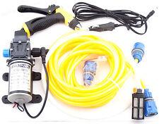 100W 12V High Pressure Water Pump Cleaner Sprayer Kit Auto Car Caravan Camping