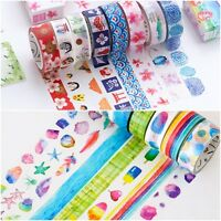 Beautiful Washi Paper Decorative Masking Tape 15mm x 8 Metres Rolls FREE UK PP