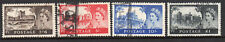 1955 Great Britain Gb 309-312 Set of 4, Qeii Queen Elizabeth & Castles - Used