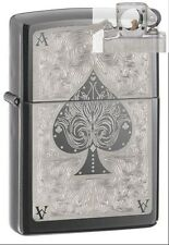 Zippo 28323 ace of spades filigree Lighter with PIPE INSERT PL