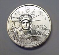 France 1986 100 Francs Liberty Silver Piedfort Coin KM-P971 Choice Proof