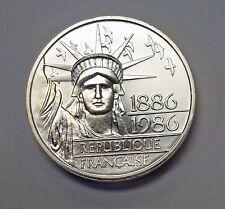{BJSTAMPS}  1986 FRANCE Piedfort 100 FRANCS .96 ozt  .900  SILVER Statue Liberty