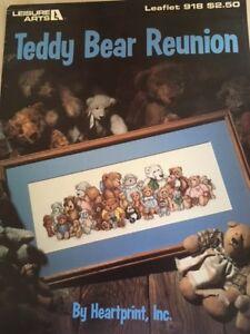 TEDDY BEAR REUNION by Heartprint Inc. for Leisure Arts Leaflet #918 1990