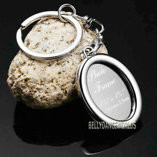 OVAL PHOTO PICTURE FRAME PURSE CHARM KEYCHAIN KEY CHAIN RING WEDDING FAVORS GIFT