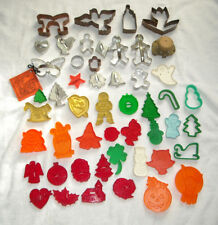 50 Cookie Cutters HRM Hallmark Wilton Metal Plastic Holiday Halloween Christmas