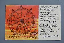 R&L Postcard: Comic, Tickacards Good Time at Brighton, Big Wheel Fairground Ride