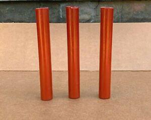Three Brick Red Bakelite Ring Tubes 165g
