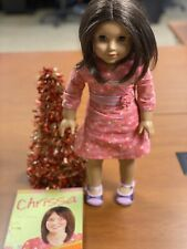 American Girl of the Year 2009 Chrissa Doll & Book EUC Retired and Party Treats
