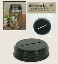 Slotted Mason Jar LID for Creating a Coin Bank ~ Use your Standard Mason Jar