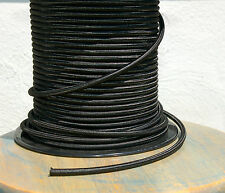 Black Rayon Cloth Covered 3-Wire Round Pulley Cord, Vintage Pendant Lights, Fans