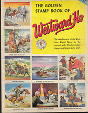 Golden Stamp Book of Westward Ho 1954 Daniel Boone Pony Express