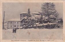 * CALIZZANO -  Castello dei Conti Buraggi d'inverno 1929