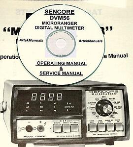 Sencore DVM56 Microranger Digital Multimeter Ops & Service Manual w/Schematics