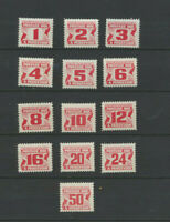 Canada 13 Different  Mint Never Hinged Centennial  Postage Dues Collection