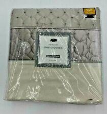Embroidered Duvet Super King Cover Vienna Grey Cream New 260 x 260 cm